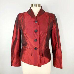 PAUW Amsterdam 100% Silk Three Button Suit Jacket